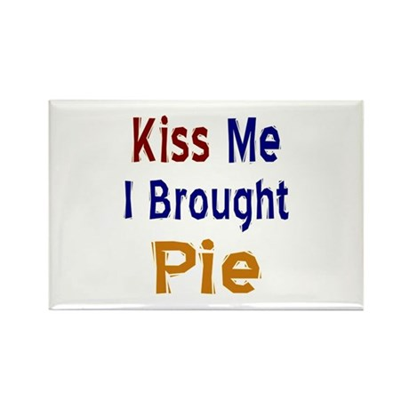 Funny Thanksgiving Pie Rectangle Magnet