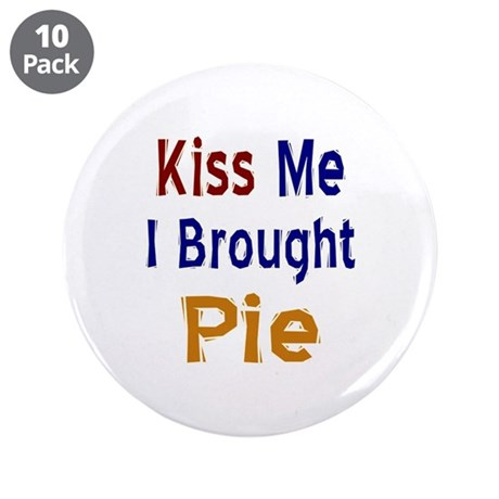 "Funny Thanksgiving Pie 3.5"" Button (10 pack)"