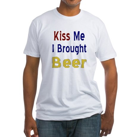 Funny Thanksgiving Beer Fitted T-Shirt