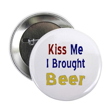 "Funny Thanksgiving Beer 2.25"" Button"