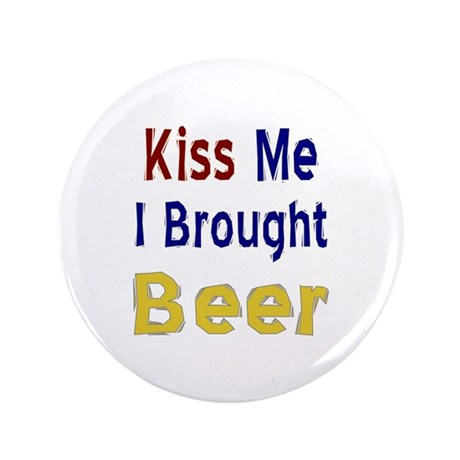 "Funny Thanksgiving Beer 3.5"" Button"