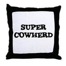 SUPER COWHERD  Throw Pillow