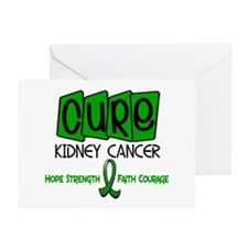 CURE Kidney Cancer 1 Greeting Cards (Pk of 10)