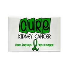 CURE Kidney Cancer 1 Rectangle Magnet (100 pack)