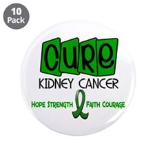"CURE Kidney Cancer 1 3.5"" Button (10 pack)"