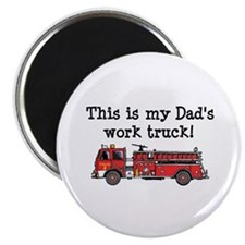 "My Dad's Fire Truck 2.25"" Magnet (100 pack)"