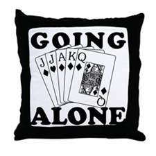 Euchre Going Alone/Loner Throw Pillow