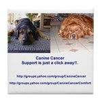 Canine Cancer Tile Coaster
