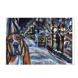 Basset Hound Holiday Postcards (Package of 8)