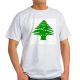Green Cedar Tree Ash Grey T-Shirt