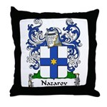 Nazarov Family Crest Throw Pillow