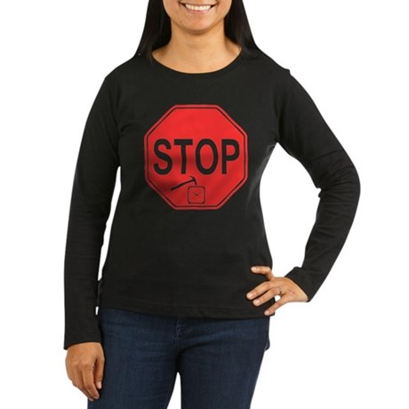 Stop! Hammer Time! Womens Long Sleeve Dark T-Shir