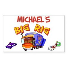 Michael's Big Rig Rectangle Decal