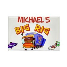 Michael's Big Rig Rectangle Magnet