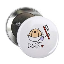 "Male Dentist 2.25"" Button (100 pack)"