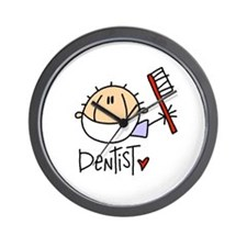 Male Dentist Wall Clock
