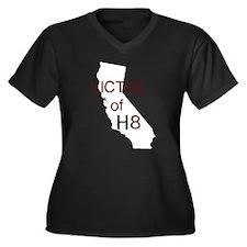 Cute Victim of h8 Women's Plus Size V-Neck Dark T-Shirt