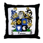 Panov Family Crest Throw Pillow