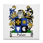 Panov Family Crest Tile Coaster