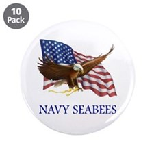"Navy Seabees 3.5"" Button (10 pack)"