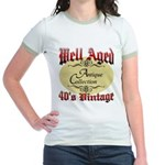 40th Birthday | Well Aged Jr. Ringer T-Shirt