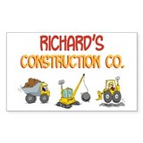 Richard's Construction Tracto Rectangle Decal