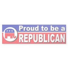 Proud to be a Republican Bumper Bumper Sticker