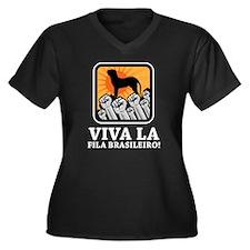 Fila Brasileiro Women's Plus Size V-Neck Dark T-Sh