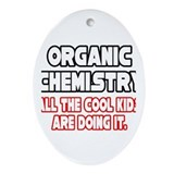 """Organic Chemistry.Cool Kids"" Oval Ornament"