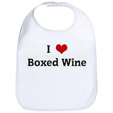 I Love Boxed Wine Bib