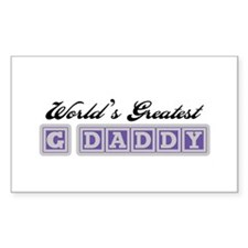 World's Greatest G-Daddy Rectangle Decal