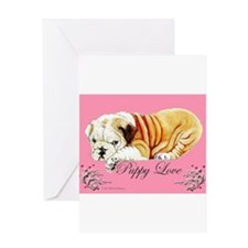 Puppy Love Bulldog Greeting Card