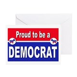 Proud to be a Democrat Greeting Cards (Pk of 20)
