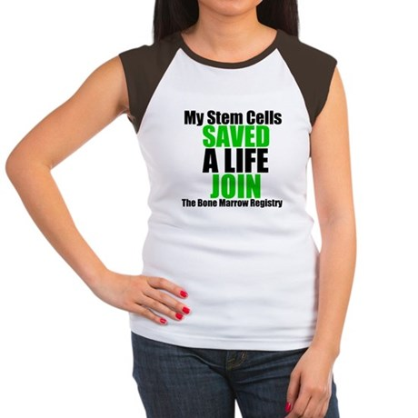 My Stem Cells Saved a Life Women's Cap Sleeve T-Sh