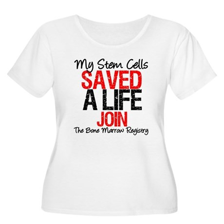 My Stem Cells Saved a Life (G-Red) Women's Plus Si