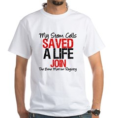 My Stem Cells Saved a Life (G-Red) White T-Shirt