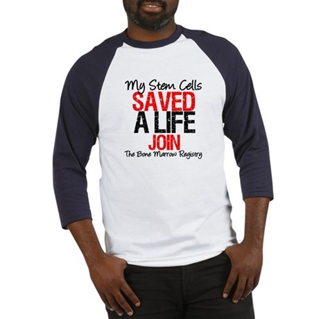 My Stem Cells Saved a Life (G-Red) Baseball Jersey