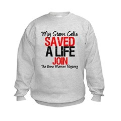 My Stem Cells Saved a Life (G-Red) Kids Sweatshirt