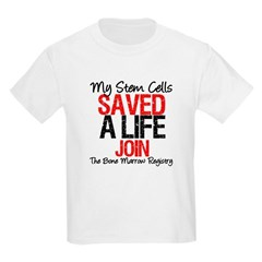 My Stem Cells Saved a Life (G-Red) Kids Light T-Sh