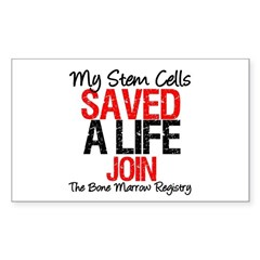 My Stem Cells Saved a Life (G-Red) Sticker (Rectan