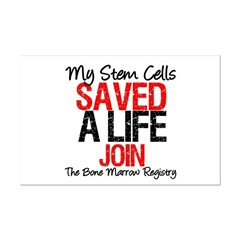 My Stem Cells Saved a Life (G-Red) Mini Poster Pri