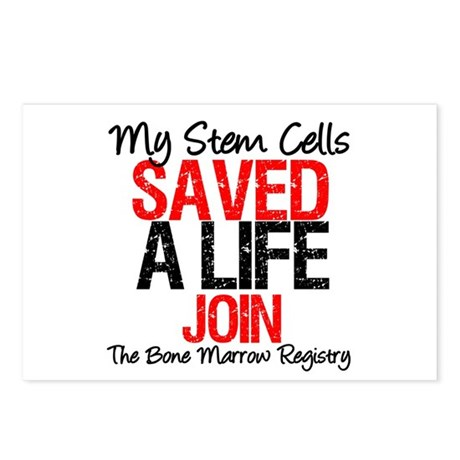 My Stem Cells Saved a Life (G-Red) Postcards (Pack