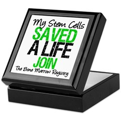 My Stem Cells Saved a Life (G-Grn) Keepsake Box