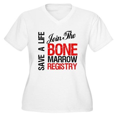 JoinTheBoneMarrowRegistry Women's Plus Size V-Neck