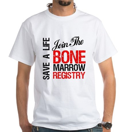 JoinTheBoneMarrowRegistry White T-Shirt