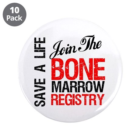 "JoinTheBoneMarrowRegistry 3.5"" Button (10 pack)"