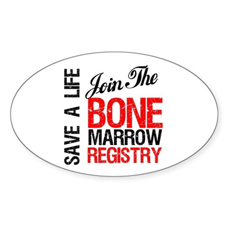 JoinTheBoneMarrowRegistry Oval Sticker