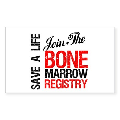 JoinTheBoneMarrowRegistry Rectangle Sticker 10 pk