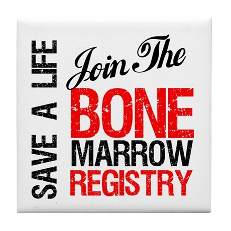 JoinTheBoneMarrowRegistry Tile Coaster