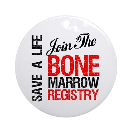 JoinTheBoneMarrowRegistry Ornament (Round)